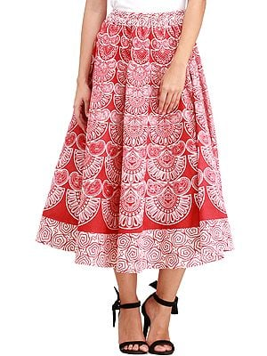 Midi-Skirt from Pilkhuwa with Block Printed Motifs
