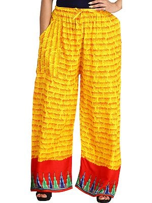 Casual Yoga Trouser with Printed Mantras and Side Pockets