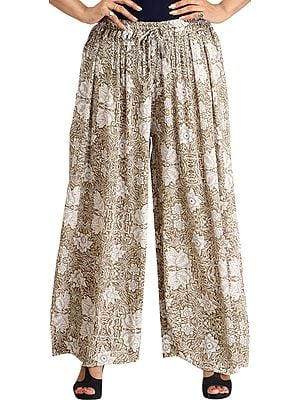 Elmwood Casual Palazzo Pants with Printed Flowers