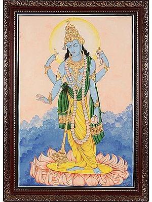 Lord Vishnu: Preserver of the Cosmos (Framed)