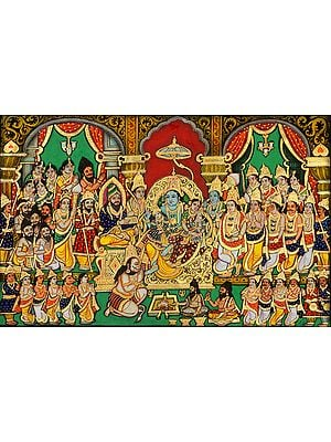 Lord Rama Durbar with His Sons Luv and Kush