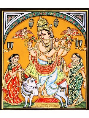 Shri Krishna with Gopis