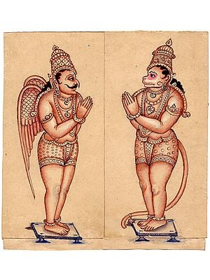 Garuda and Hanuman