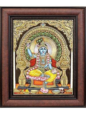 Chakradhari Shri Krishna (Framed)