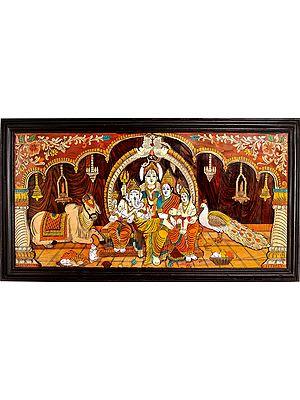 Shiva Family (Framed)