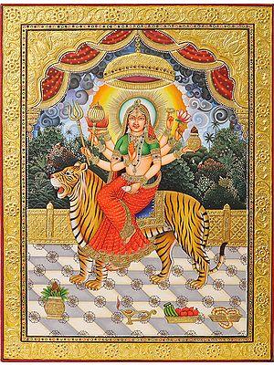 Ashta-bhuja-dhari Durga