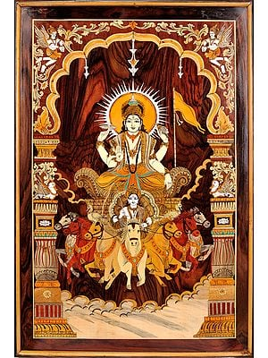 Bhagawan Surya on His Seven Horse Chariot (Framed)