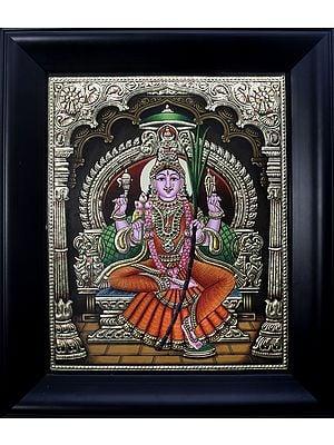 Goddess Rajarajeshvari  (Framed)