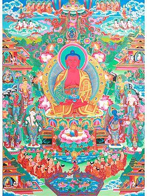 Superfine Paradise of  Amitabha Buddha - Tibetan Buddhist