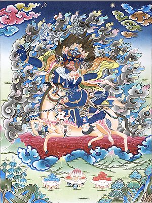 Palden Lhamo (Tibetan Buddhist Goddess Who Rides on a Sea of Blood)