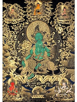 Large Size Green Tara - Tibetan Buddhist Saviouress