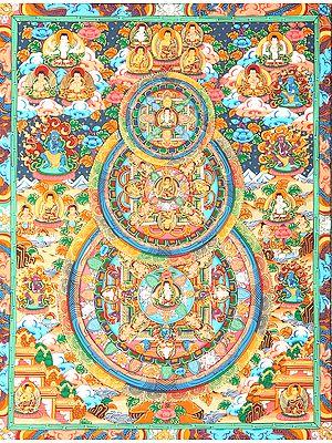 Triple Mandala of Buddha - Tibetan Buddhist