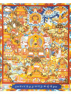 The Buddha Shakyamuni and the Scenes from His Worldly Life