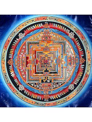 Tibetan Buddhist Kalachakra Mandala (Wheel of Time)