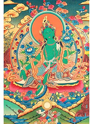 Tibetan Buddhist Savior Goddess Green Tara
