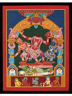 Goddess Mahavidya Chhinnamasta in Newari Style (without Brocade)