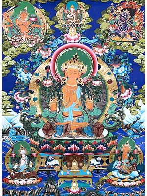 The Crimson Halo Of The Bodhisattva Manjushri