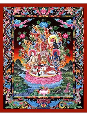 Goddess Mahavidya Chhinnamasta -Superfine Brocadeless Thangka