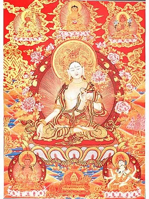 Tibetan Buddhist Goddess White Tara -Goddess of Long Life (Thangka Without Brocade)