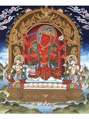 The Tender-Faced Bodhisattva Manjushri