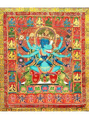 Superfine Large Paramsukha Chakrasamvara in Yab Yum (Tibetan Buddhist)