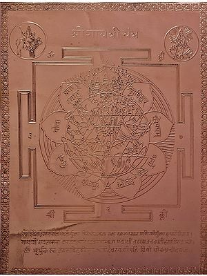Shri Gayatri Yantra (Yantra for Good Health, Wealth and Prosperity)