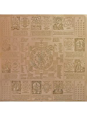 Dash Mahavidyayukta Shri Yantram (Super Large Size Yantra of Ten Mahavidyas with Shri Yantra)