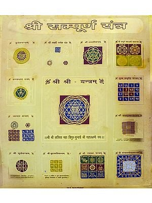 Shri Sampurna  Yantra (Complete Yantra)