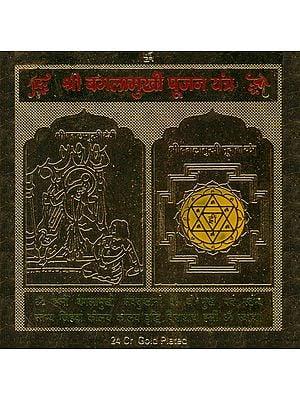 Shri Bagalamukhi Pujan Yantra