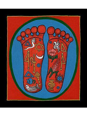 The Lotus Footprints of Lord Nityananda