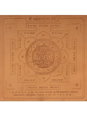 Shri Maha Mrityunjay Yantra (Yantra for Victory Over Death and Cures All Kinds of Diseases)