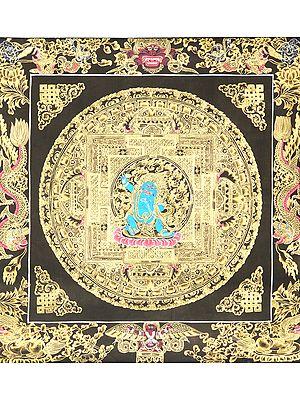 The Bodhisattva of Power - Vajrapani Mandala - Tibetan Buddhist