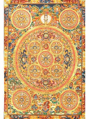 Super Large Mandala of Gautam Buddha - Tibetan Buddhist