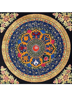 Auspicious Ashtamangala Mandala - Tibetan Buddhist