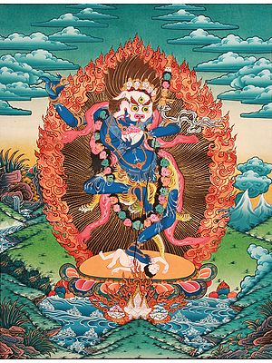 Simhavaktra: Lion Faced Dakini (Tibetan Buddhist)