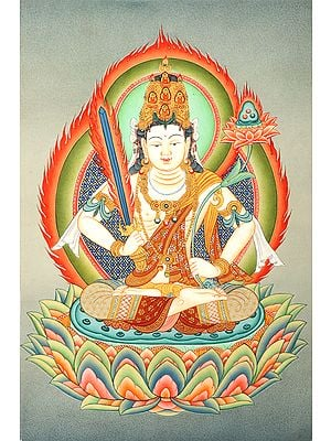 Japanese Manjushri  - Brocadeless Thangka
