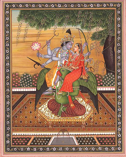 Vishnu-Lakshmi On The Shoulders Of Lord Garuda