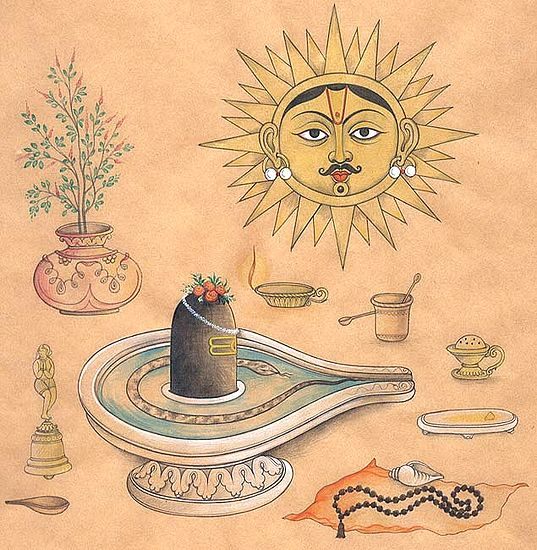 Shiva Linga Worship