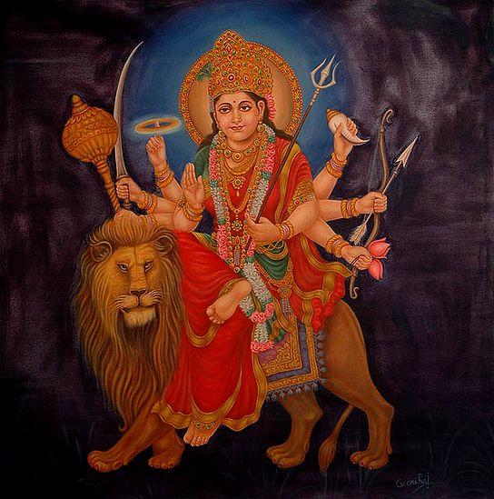 Of Beauty And Ferocity, Simhavahini Devi Durga