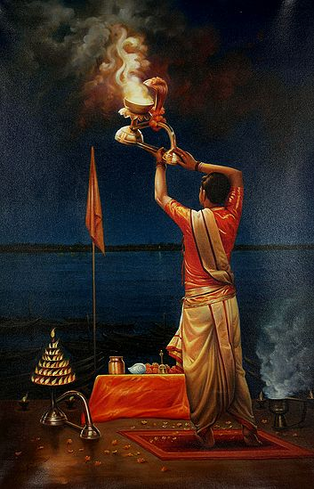 Ganga Aarati In One's Solitude At Dashashvamedh