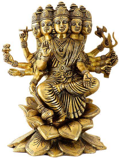 Devi Gayatri On Blooming Lotuses