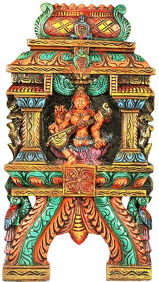 Richly Coloured Devi Sarasvati Mandir