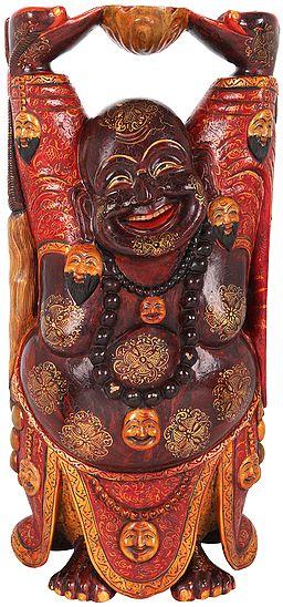 Embellished Laughing Buddha (Tibetan Buddhist)