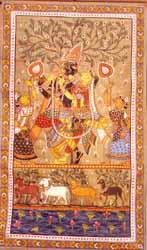 Radha Krishna -paata on tussar silk