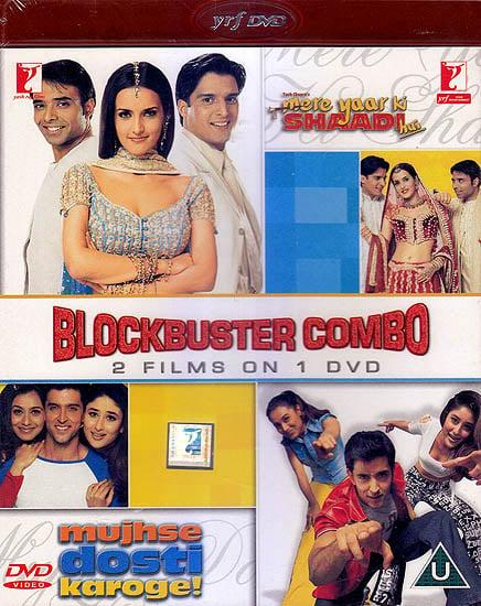 Blockbuster Combo 2 Films On 1 DVD (Mere Yaar Ki Shaadi Hai & Mujhse Dosti Karoge) (DVD)