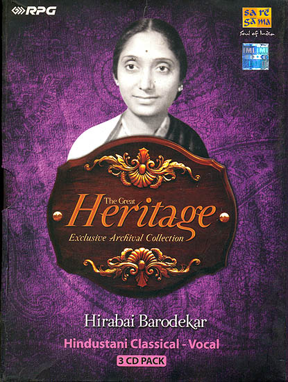 The Great Heritage: Exclusive Archival Collection Hirabai Barodekar (Set of 3 Audio CDs)
