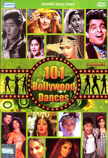 101 Bollywood Dances: Original Video Songs (Set of 3 DVDs)