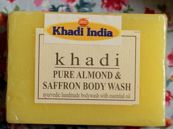 Khadi Natural Saffron Herbal Glycerine Body Wash (Hand Made Ayurvedic Soap) (Price Per Pair)
