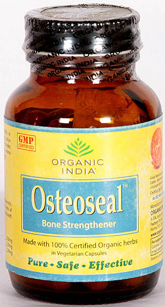 Organic India Osteoseal Bone Strengthener- Made with 100% Certified Organic herbs in vegetarian capsules (Pure- Safe- Effective)