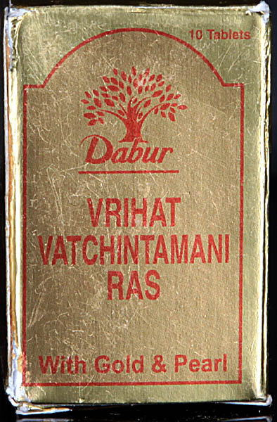 Vrihat Vatchintamani Ras with Gold & Pearl (Ten Tablets)